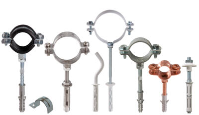 Cladding and pipe fixings
